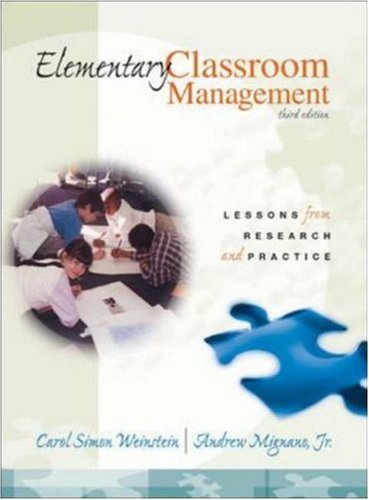 Elementary Classroom Management: Lessons from Research and Practice 9780072322439