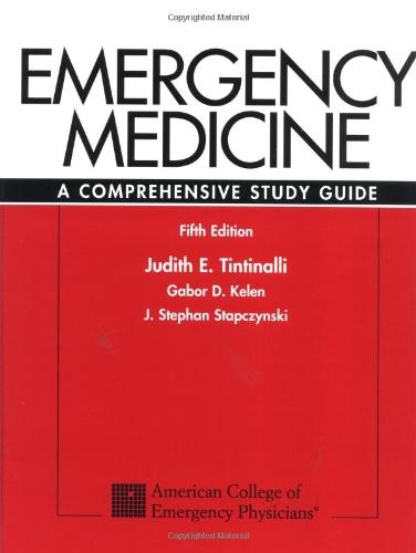 Emergency Medicine: A Comprehensive Study Guide 9780070653511