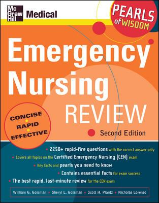 Emergency Nursing Review: Pearls of Wisdom, Second Edition 9780071464253