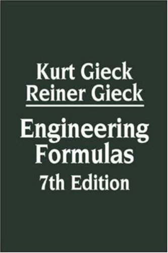 Engineering Formulas 9780070245723