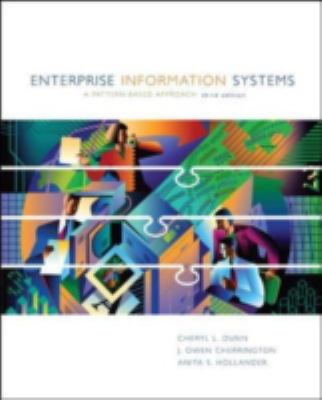 Enterprise Information Systems: A Pattern-Based Approach 9780072404296
