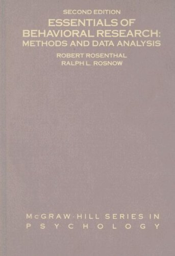 Essentials of Behavioral Research: Methods and Data Analysis 9780070539297