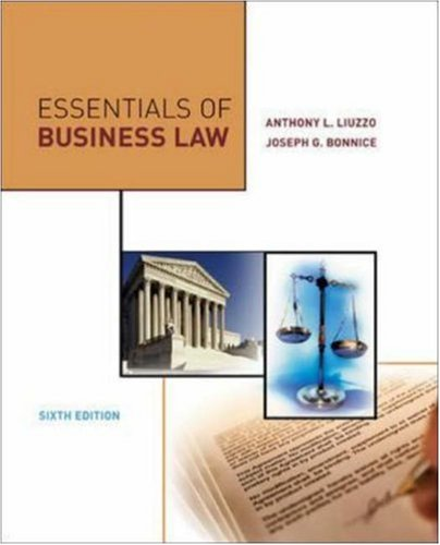 Essentials of Business Law 9780073054278