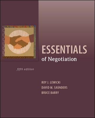 Essentials of Negotiation 9780073530369