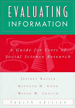 Evaluating Information: A Guide for Users of Social Science Research 9780070343092