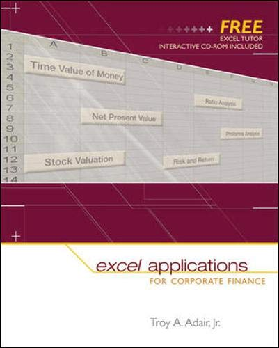 Excel Applications for Corporate Finance with Excel Tutor 9780072980721