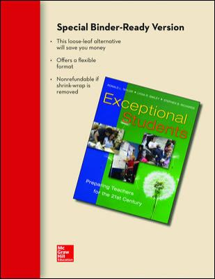Exceptional Students: Preparing Teachers for the 21st Century 9780077497439
