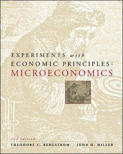 Experiments with Economic Principles: Microeconomics 9780072295184