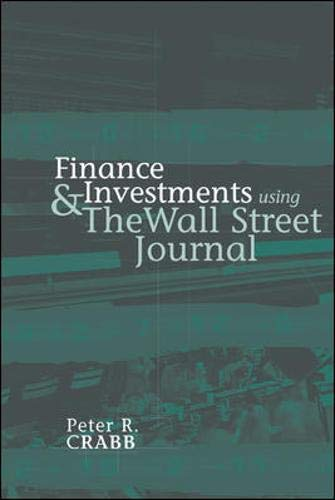 Finance and Investments Using the Wall Street Journal 9780072829365