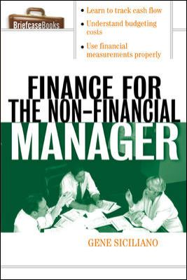 Finance for Non-Financial Managers 9780071413770