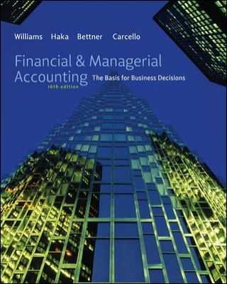 Financial & Managerial Accounting: The Basis for Business Decisions 9780077484569