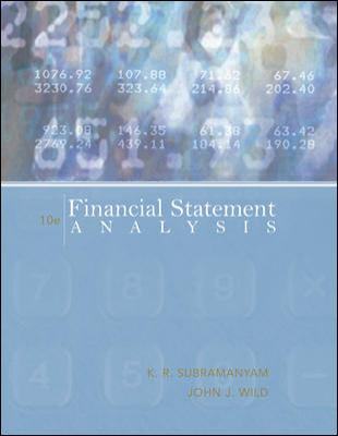 Financial Statement Analysis 9780073379432