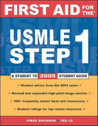 First Aid for the USMLE Step 1: A Student to Student Guide 9780071440677