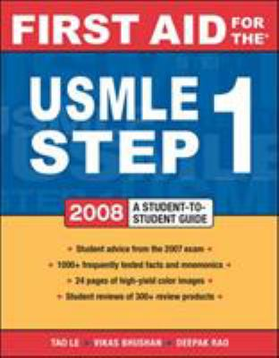 First Aid for the USMLE Step 1: A Student-To-Student Guide 9780071498685