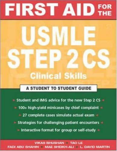 First Aid for the USMLE Step 2 CS (Clinical Skills Exam) 9780071421843