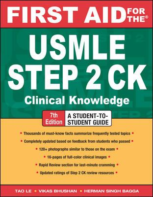 First Aid for the USMLE Step 2 CK 9780071623544