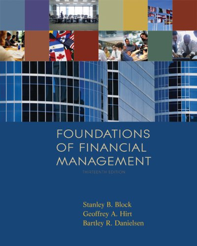 Foundations of Financial Management 9780077262037