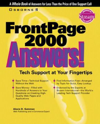 FrontPage 2000 Answers! 9780072121018