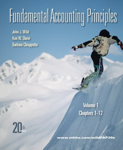Fundamental Accounting Principles, Volume 1: Chapters 1-12 9780077338251