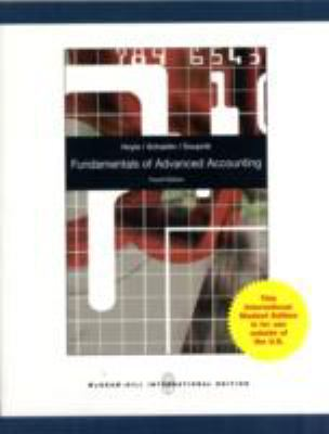 Fundamentals of Advanced Accounting 9780071220880