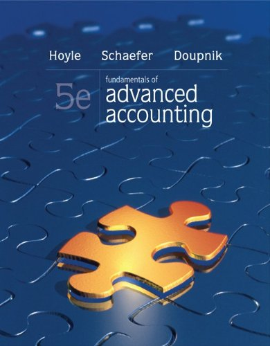 Fundamentals of Advanced Accounting 9780078025396