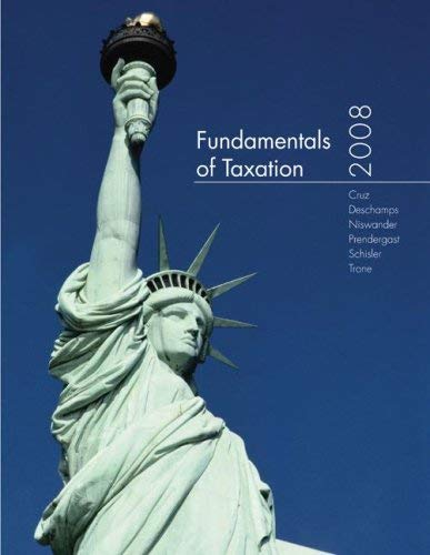 Fundamentals of Taxation [With CDROM] 9780077217969