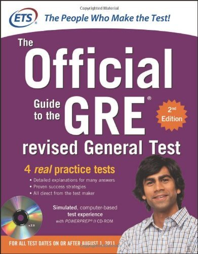 GRE the Official Guide to the Revised General Test , Second Edition [With CDROM] 9780071791236