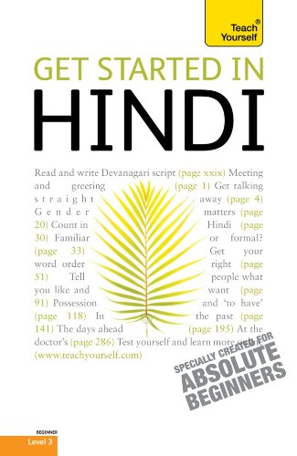 Get Started in Hindi 9780071739443