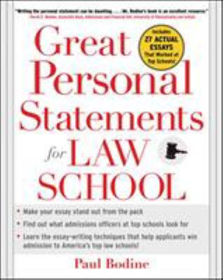 Great Personal Statements for Law School 9780071453004