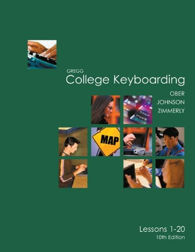Gregg College Keyboarding (Gdp) Lessons 1-20 Kit 9780073138497