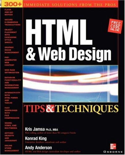 HTML & Web Design Tips & Techniques 9780072193947