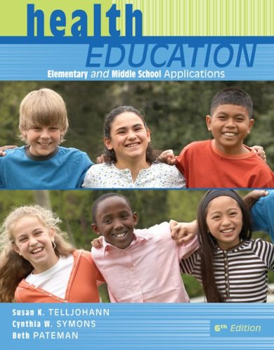 Health Education: Elementary and Middle School Applications 9780073380803