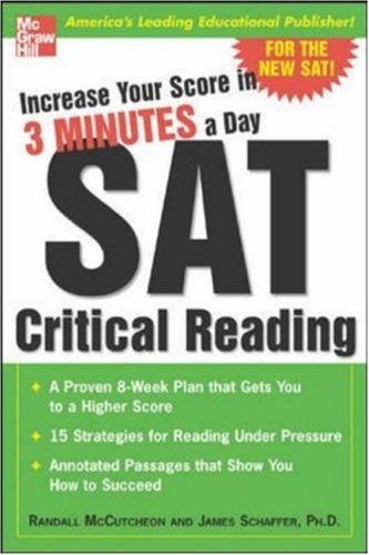 Increase Your Score in 3 Minutes a Day: SAT Critical Reading 9780071440417
