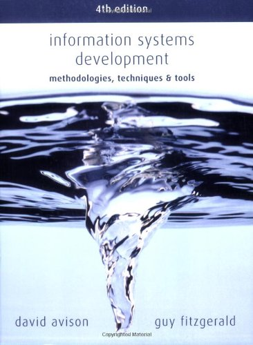 Information Systems Development: Methodologies, Techniques & Tools 9780077114176