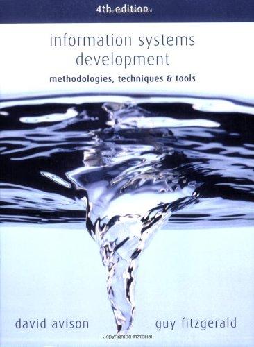 Information Systems Development: Methodologies, Techniques & Tools 9780077114176