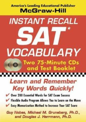 Instant Recall SAT Vocabulary [With Pamphlet] 9780071435154
