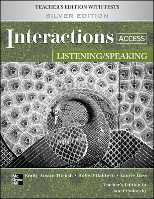 Interactions Access Listening/Speaking Teacher's Edition Plus Key Code for E-Course 9780077202484