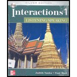Interactions Level 1 Listening/Speaking Student Book 9780073337425