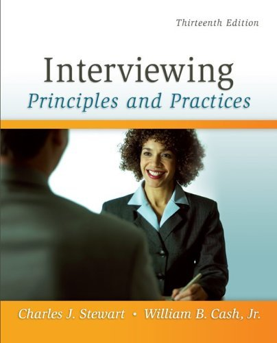 Interviewing: Principles and Practices 9780073406817