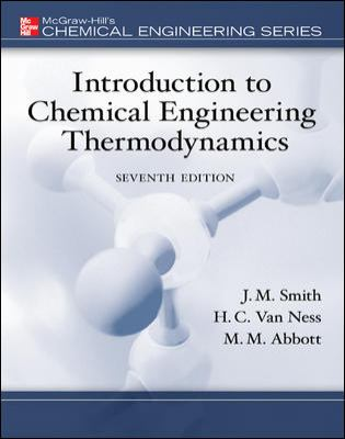 Introduction To Chemical Engineering Thermodynamics 7th Edition By