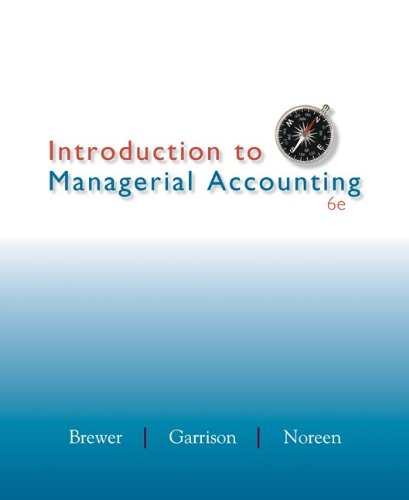 Introduction to Managerial Accounting 9780078025419