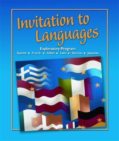 Invitation to Languages: Foreign Language Exploratory Program 9780078605789