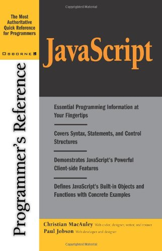 JavaScript Programmer's Reference 9780072192964
