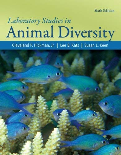 Laboratory Studies in Animal Diversity Jr., Cleveland Hickman and Lee Kats