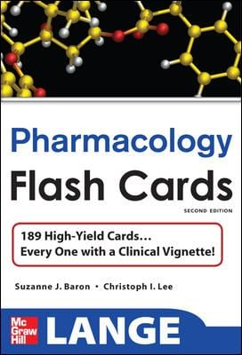 Lange Pharmacology Flash Cards 9780071622417