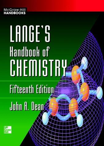 Lange's Handbook of Chemistry 9780070163843