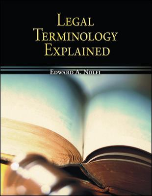 Legal Terminology Explained 9780073511849