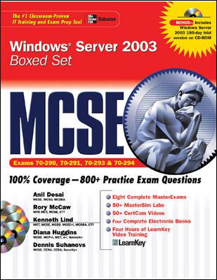 MCSE Windows Server 2003 Boxed Set: Exam 70-290, 70-291, 70-293 & 70-294 9780072223316