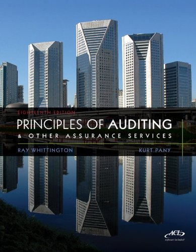 MP Principles of Auditing & Assurance Services with ACL Software CD 9780077486273