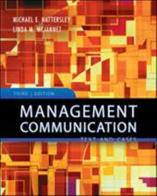 Management Communication: Principles and Practice 9780073525051